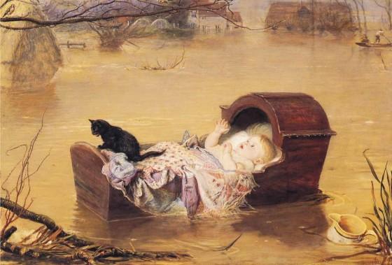 La belleza de la pintura victoriana se instala en el Thyssen William-Holman-Hunt%2B_1827-1910_%2BA%2BFlood_%2B1870_560px