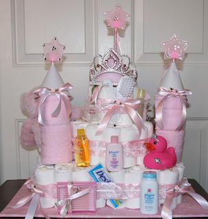 castle diaper cake instructions