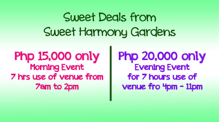 Philippine Wedding Trends Sweet Deals from Sweet Harmony Gardens