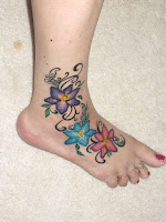 flower tattoo designs for feet