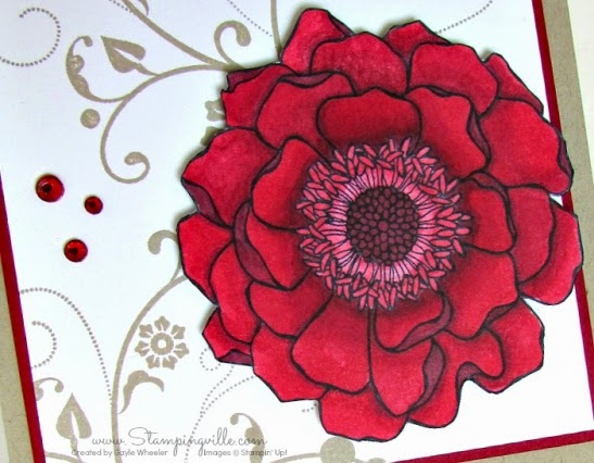 Blended Bloom - Stampin' Up! Cherry Cobbler Blendabilities