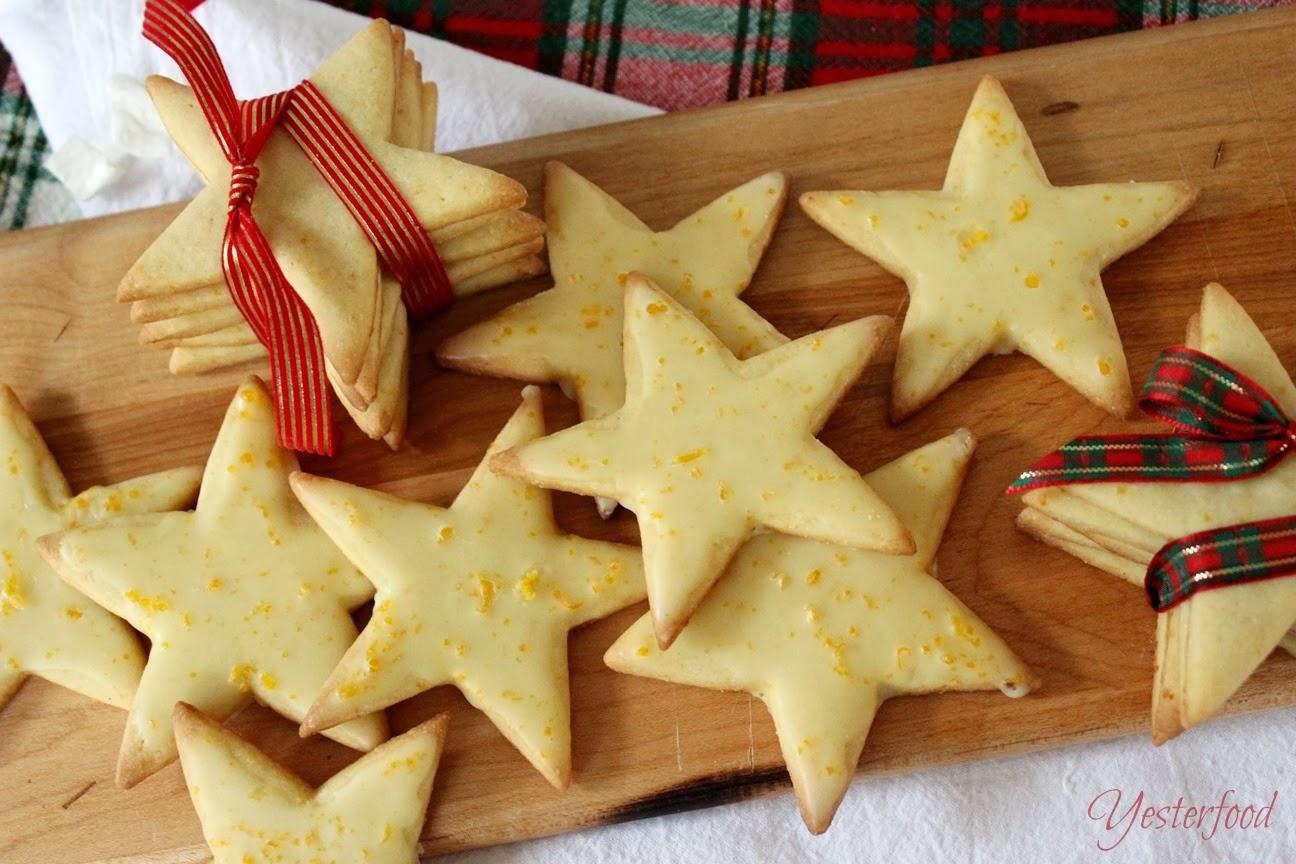 ... Bloggy Christmas Miss Joy gave to me Cornmeal Stars with Orange Glaze