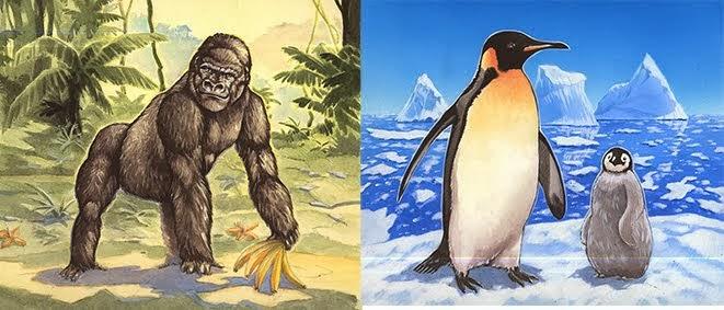 Gorille et Manchot Technique: Acrylique et Aérographe plus pinceau