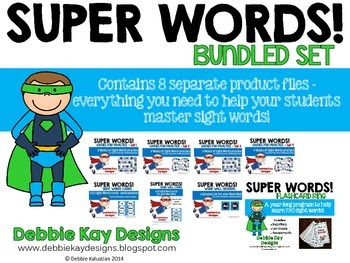 https://www.teacherspayteachers.com/Product/Sight-Words-Bundle-2074326
