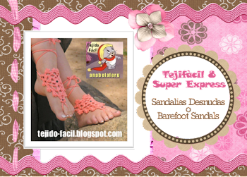 Las invito al nuevo Tejifcil 8 Super Express: Sandalias desnudas o barefoot sandals