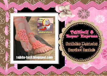Las invito al nuevo Tejifácil 8 Super Express: Sandalias desnudas o barefoot sandals