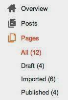 Tab page dasbord blogger