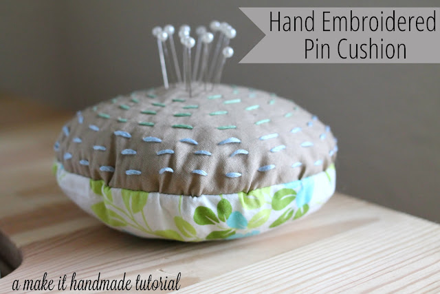 Turn any embroidery design into a pin cushion. Free Embroidery and sewing pattern by Make It Handmade