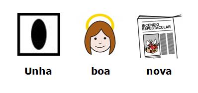 Unha boa nova con pictogramas ARASAAC