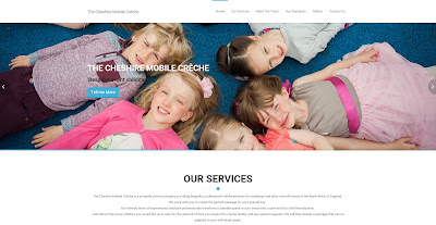 The Cheshire Mobile creche website image