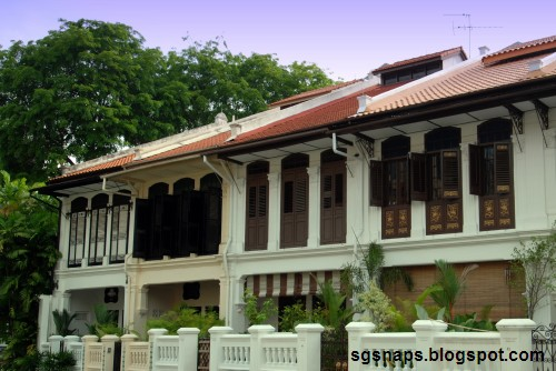 Singapore snapshots old terrace houses emerald hill road for Terrace house singapore