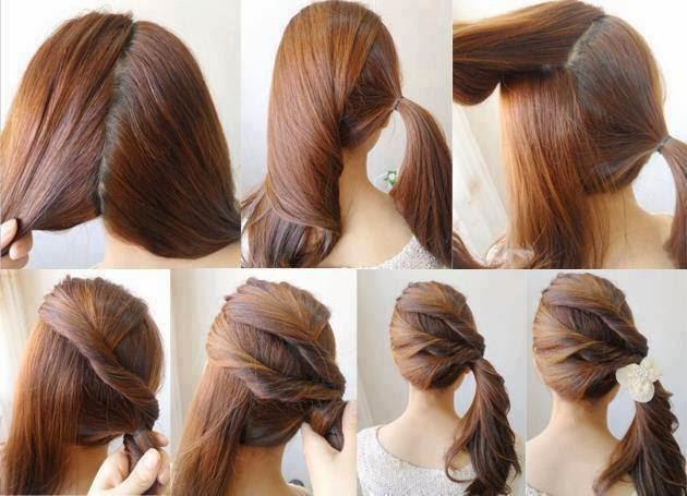 Truco para un hermoso peinado femenino