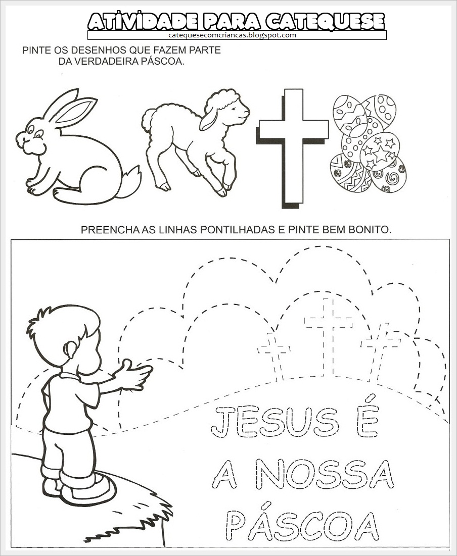 Well-known Catequese com Crianças: Atividade sobre a Páscoa HS97