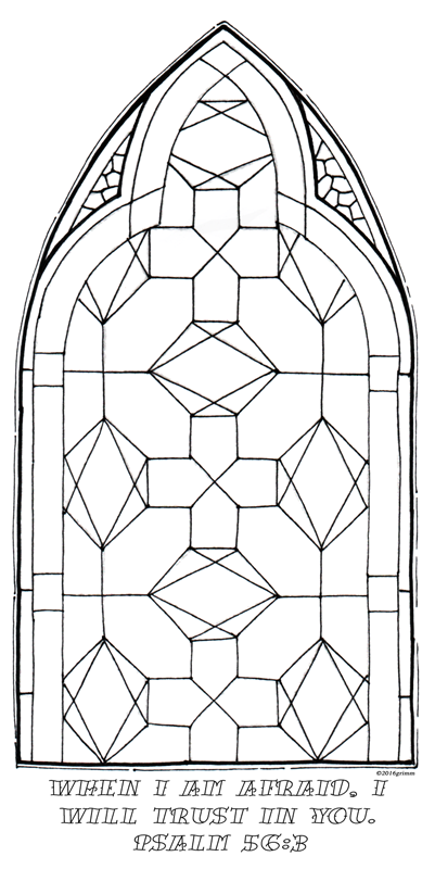 psalm 563 - Psalm 56 3 Coloring Page