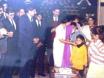 Anushka Childhood Photo in party