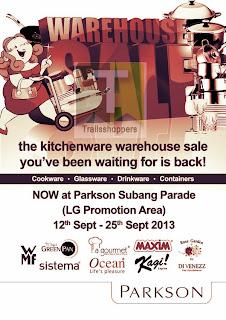 The Kitchenware Warehouse Sale 2013