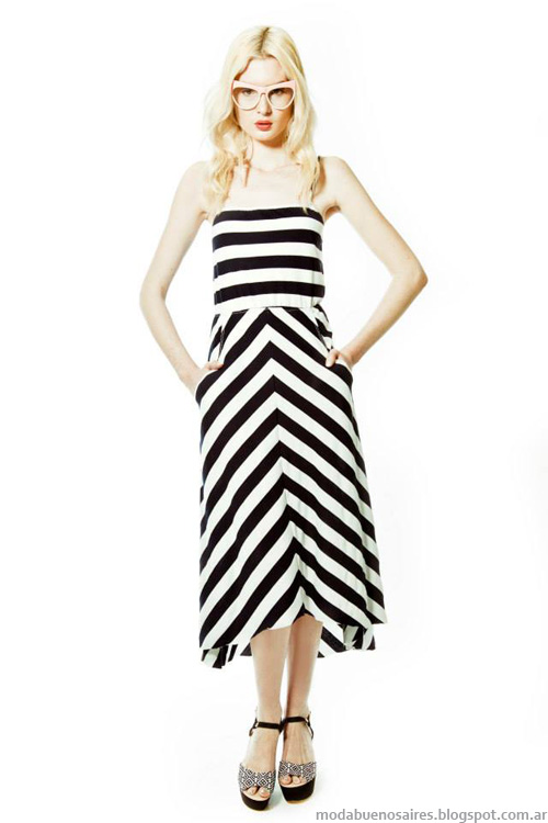 Janet Wise primavera verano 2014 vestidos. Moda verano 2014.