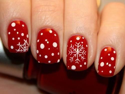 Le nail art flocons de neige