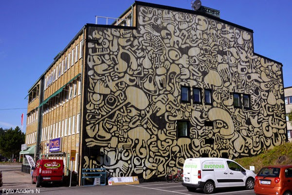 väggmålning, borås, knalleland