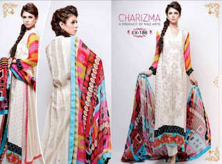 Charizma  New lawn embroidery Eid dresses 2013
