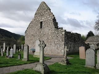 The side of Tullich Church, Deeside
