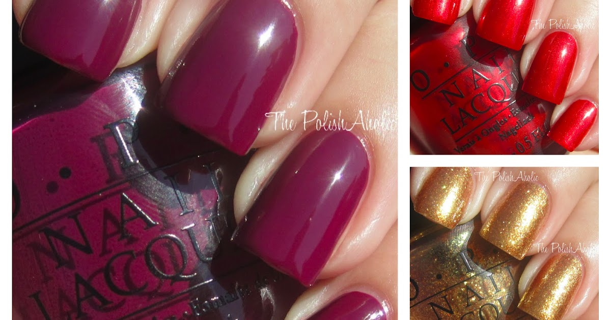 The PolishAholic: OPI Holiday 2012 Skyfall Collection Swatches