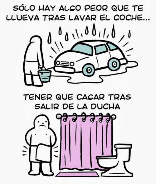 imagenes graciosas - sólo hay algo peor que te llueva tras lavar el coche...
