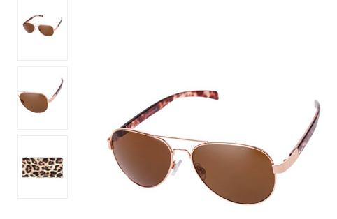 gafas aviador leopardo Stradivarius