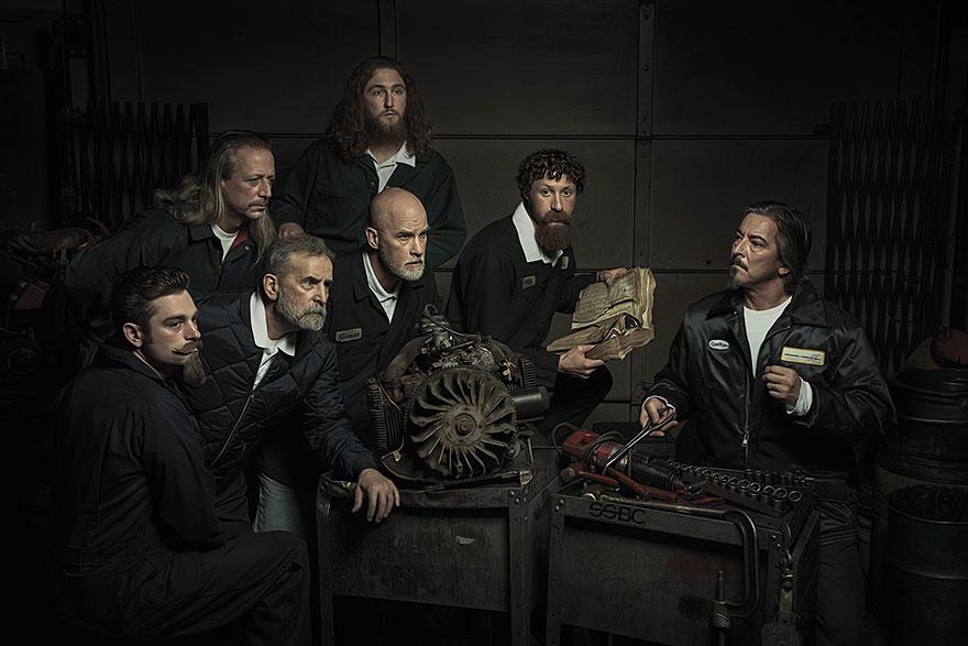 Автомеханики воссоздали картины эпохи Ренессанса