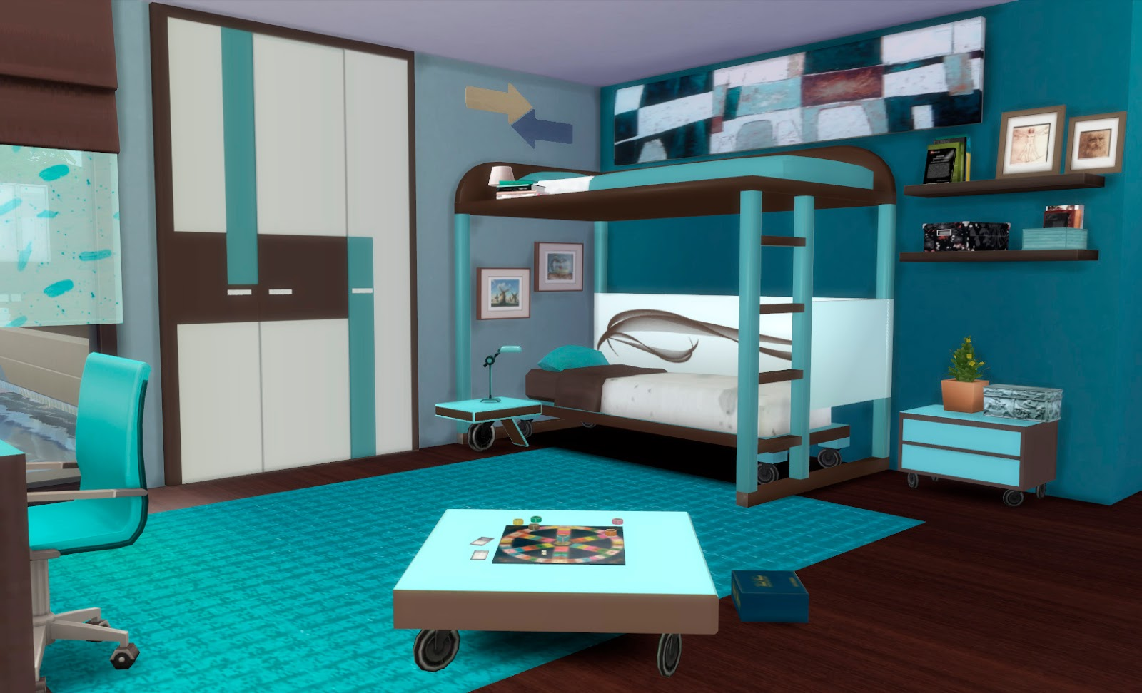 My sims 4 blog ivan bedroom set by pqsim4 for Muebles para los sims 3