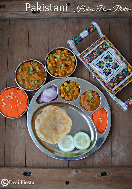 Pakistani Halwa Poori Recipe