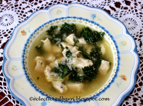 Soup with Chicken and  Kale