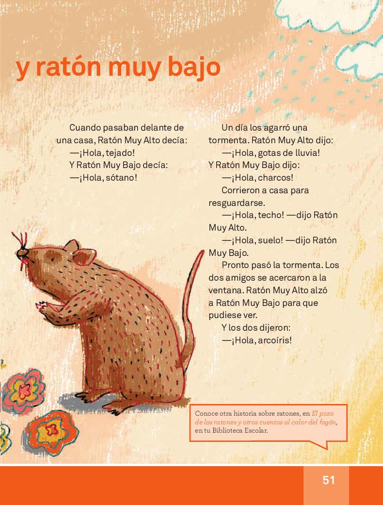 Ratón muy alto y ratón muy bajo - Español Lecturas 3ro 2014-2015