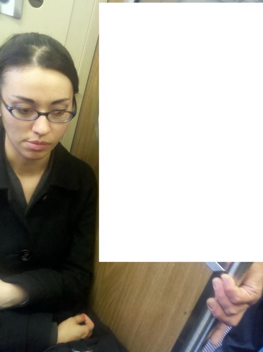 Conseguiu sentar no metro?