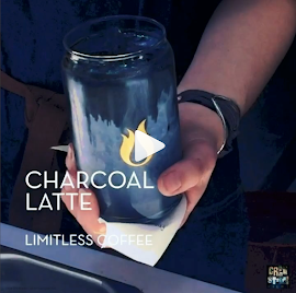Charcoal is the new black coffee trending at Limitless Coffee.