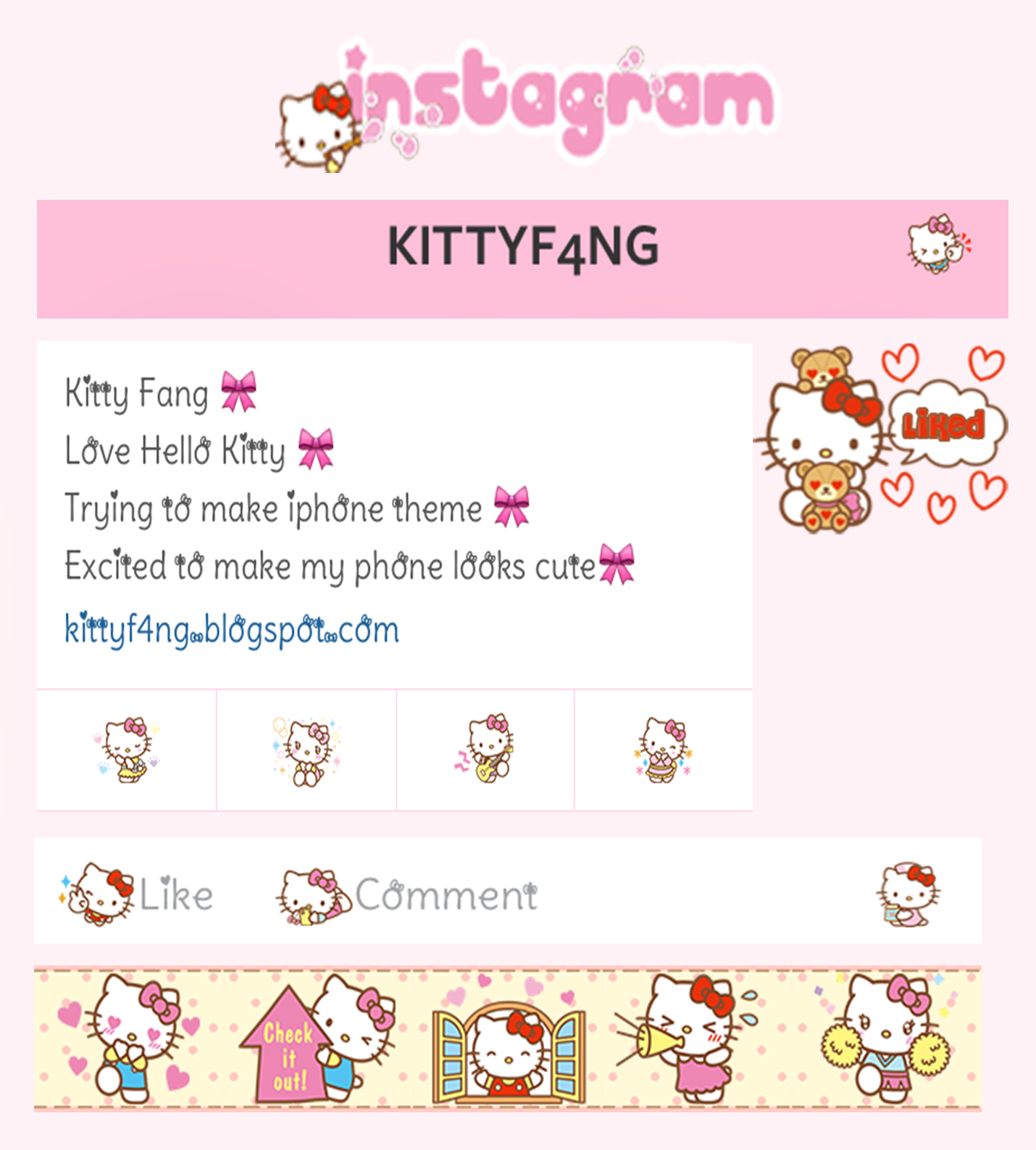 Google themes hello kitty - Kitty Fang Google Go Sms Android L Theme Coach For