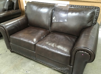 Adalyn Home Riley Leather Loveseat for your home's living room or family room