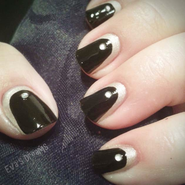 Nails of the week: Nail art design - Black + White