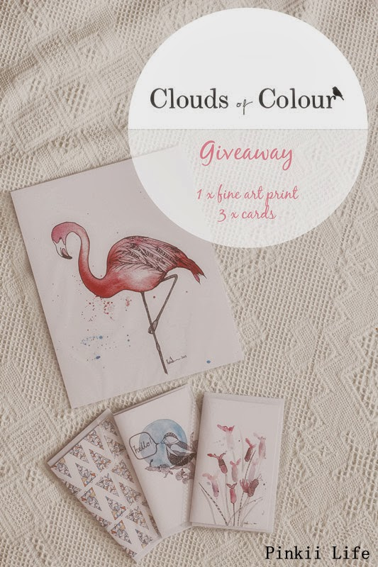 $40 fine art print+ 3 beautiful Greeting cards giveaway