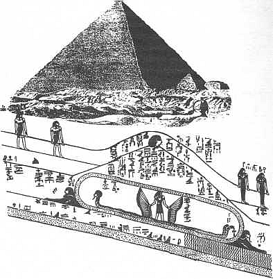 Secret chamber under the great pyramid