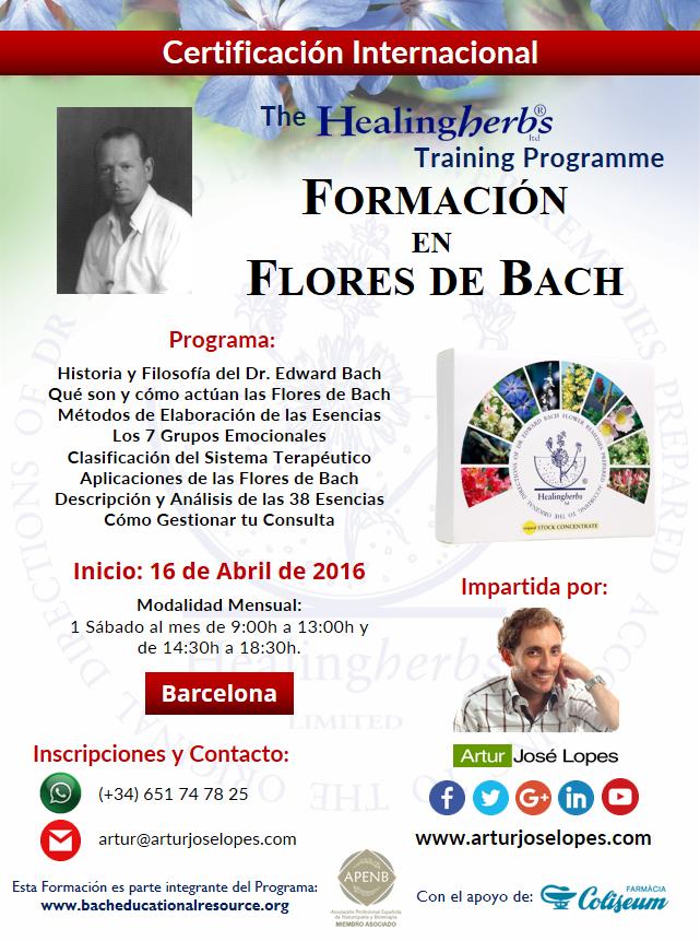 Inicio de la próxima Formación en Flores de Bach *16 de Abril*. ¡Apúntate aquí!