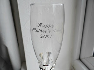 personalised champagne flute, engraved champagne flute, Mothers Day Champagne Flute