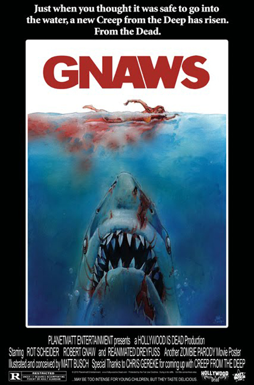 hilarious spoofs of the jaws movie poster