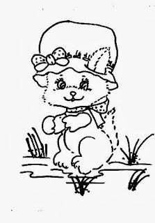 desenho de gatinha para pintar