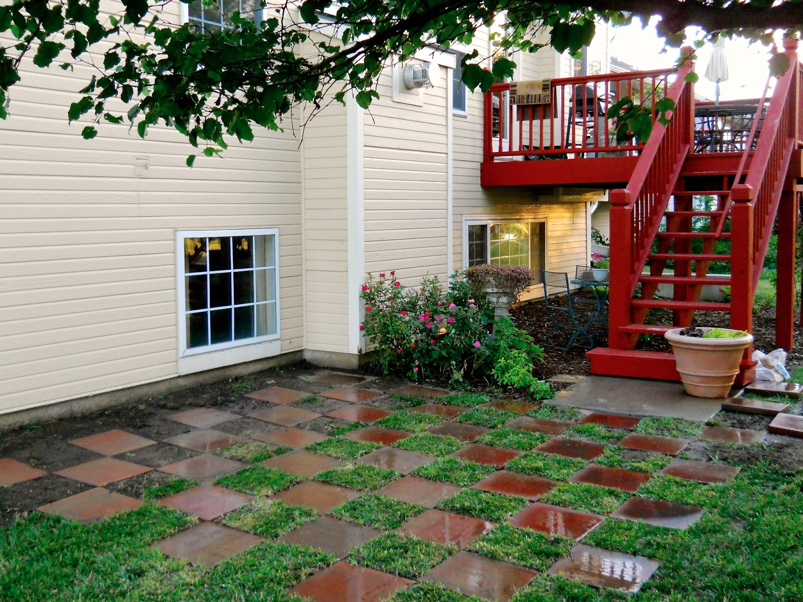 patio pavers with grass in between. Checkerboard Patio Pavers With Grass In Between .