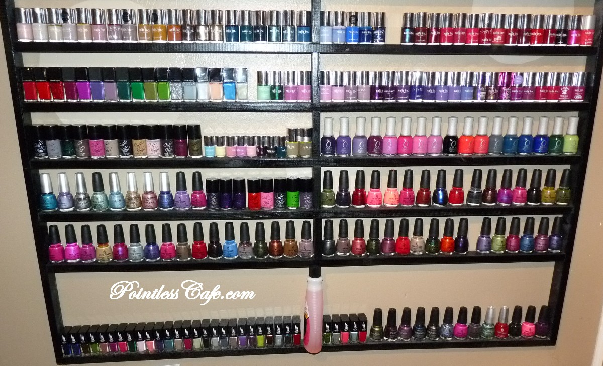 nail polish storage and collection 2 0 pointless cafe. Black Bedroom Furniture Sets. Home Design Ideas