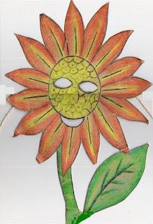 Máscara de girassol -símbolo da páscoa