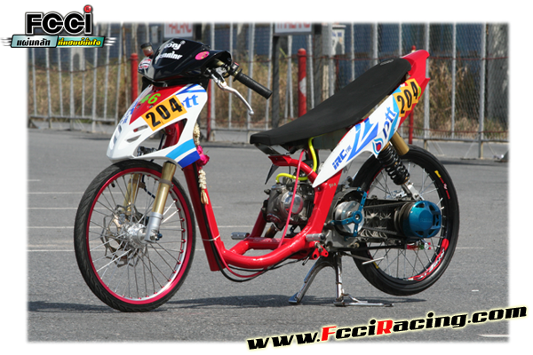 DIATAS ADALAH CONTOH MOTOR MIO KELUARAN TAHUN 2008 YANG DIJADIKAN DRAG  title=