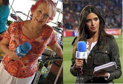 Las periodistas Rosa María Calaf y Sara Carbonero, TVE, Telecinco