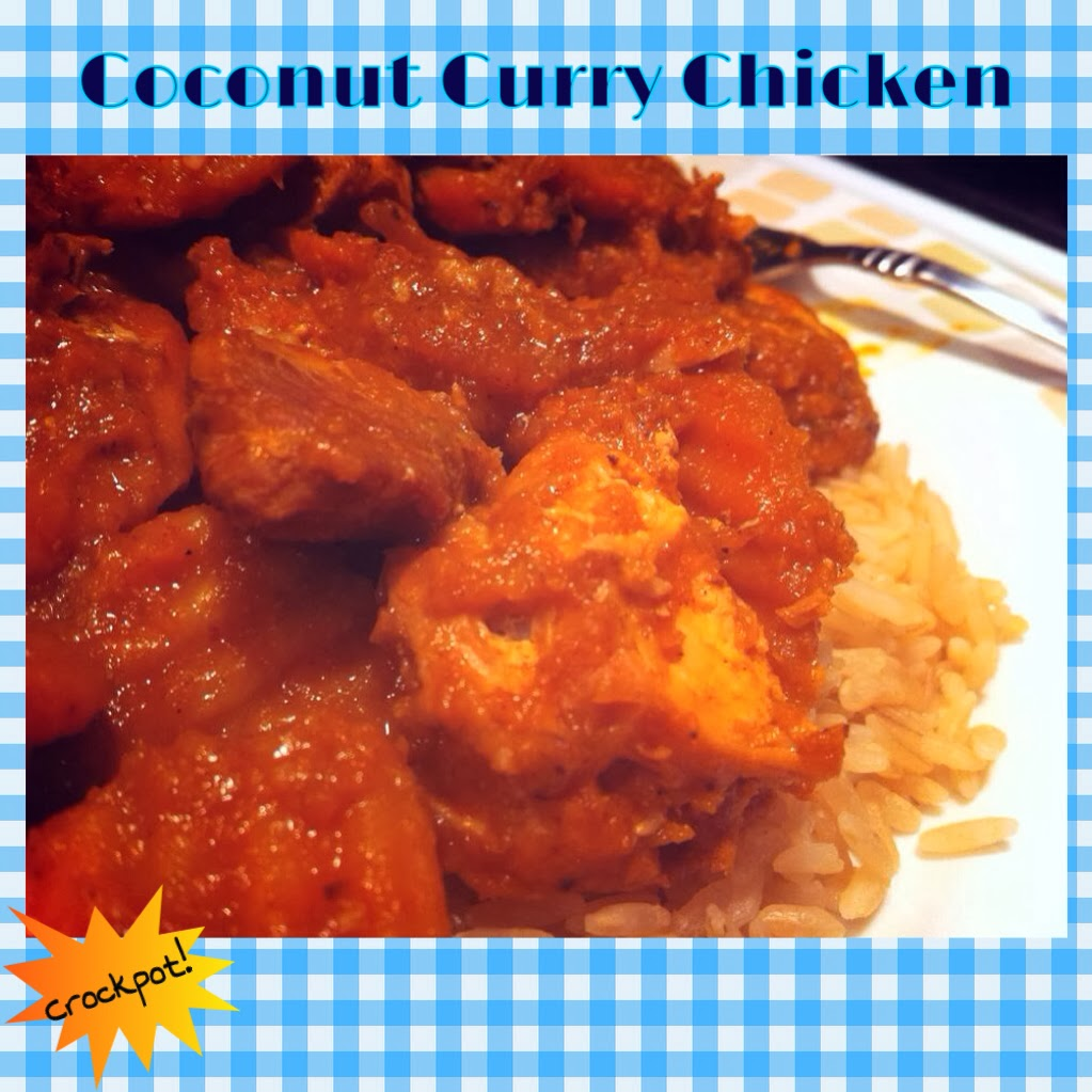 Forget Unhealthy Chinese Takeout! Clean Coconut Curry Chicken! Crockpot Recipe!